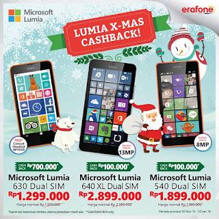 Promo Akhir Tahun Lumia XMas Cashback di Erafone