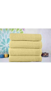 PayTM : Buy Story@Home 4 Pcs Yellow 100% Cotton Bath Towel at Rs. 450 only