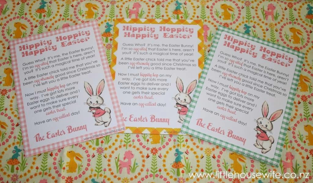 Little Housewife: Letter From The Easter Bunny
