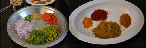 ingredients for soya keema rolls