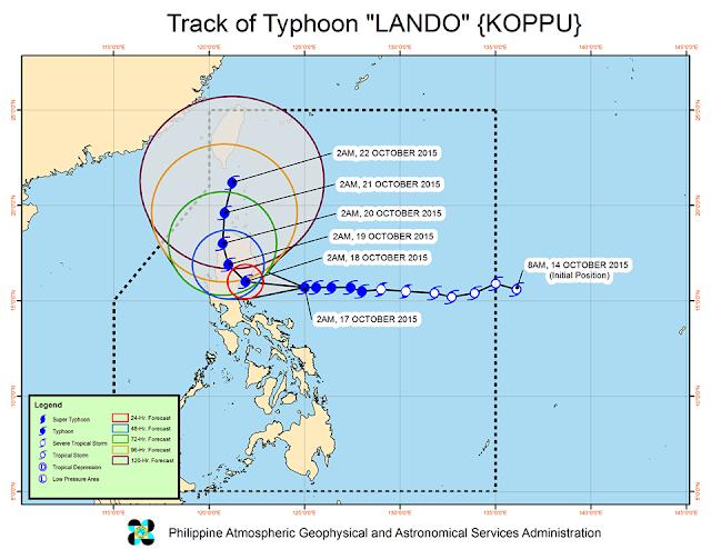 track typhoon Lando