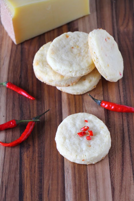 Cheddar Chili Shortbread