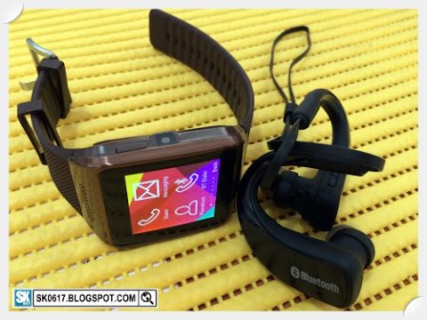 My new Bluetooth gadgets: Smart Watch and Earphone