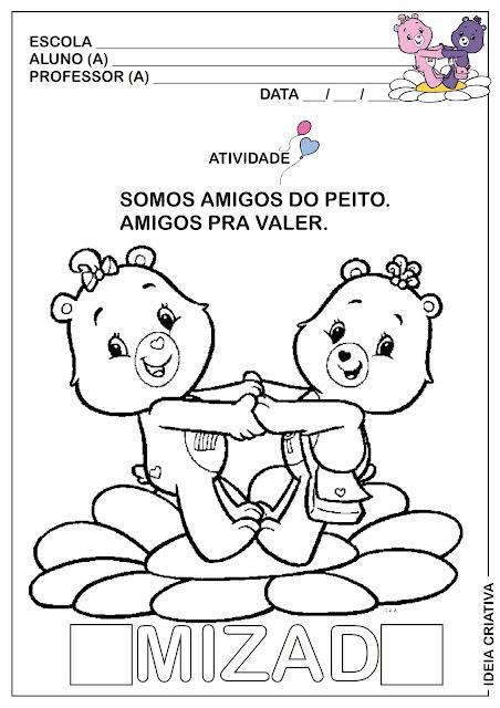 Atividade Dia do Amigo / Primeira e última Letra