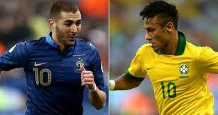 Francia vs Brasil, Partido Amistoso