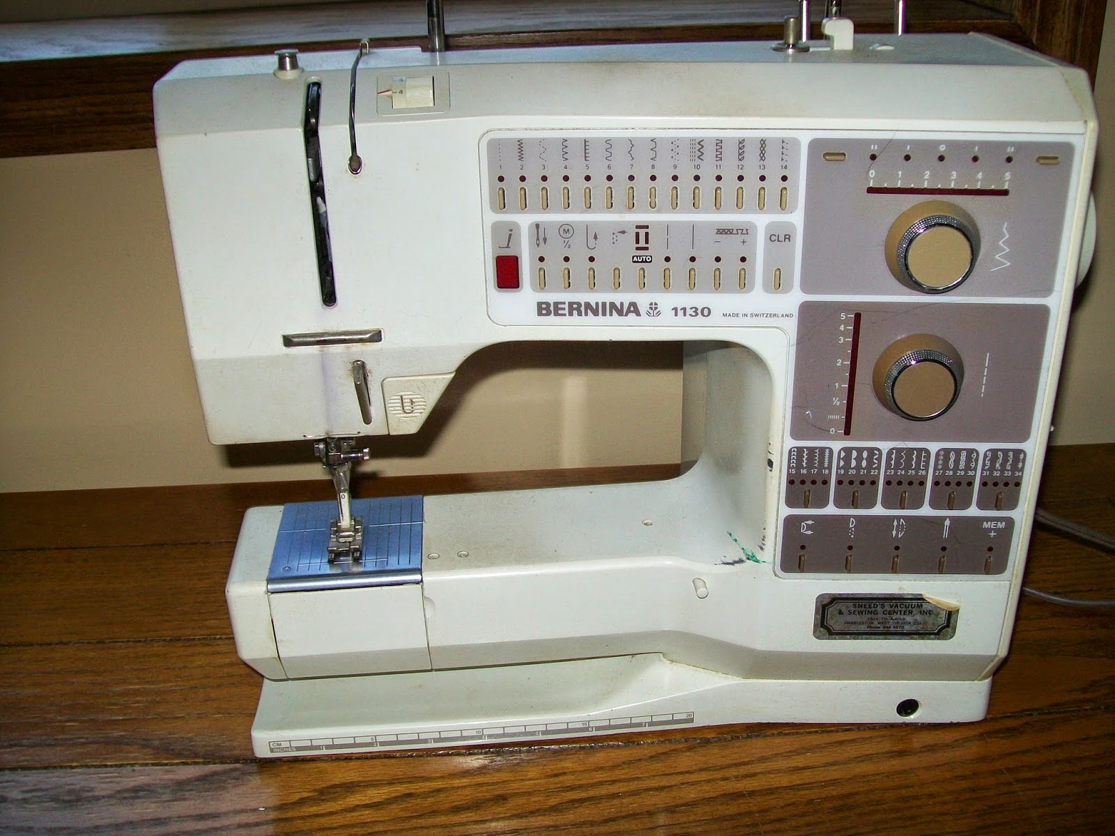 & Sew Much More: My new sewing machine - a Bernina 1130