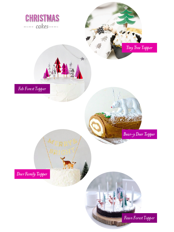 DIY Christmas Cakes and Toppers | Sweet Tooth