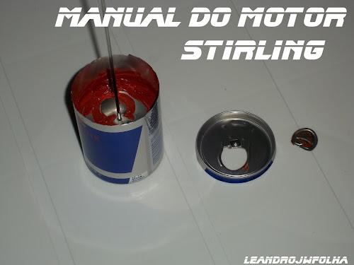 Manual do motor Stirling, montagem de um pistão deslocador