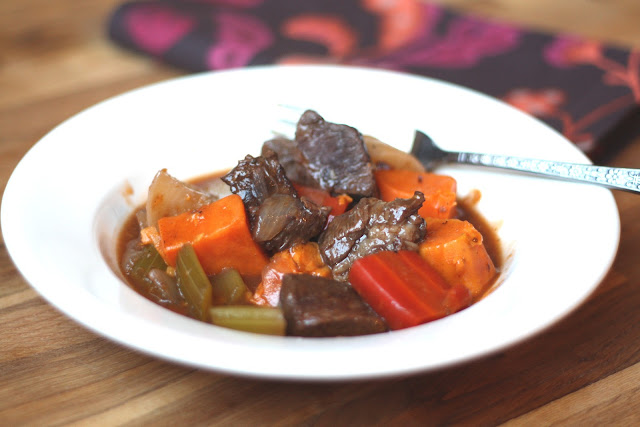 Beef Stew with Sweet Root Vegetables recipe by Barefeet In The Kitchen