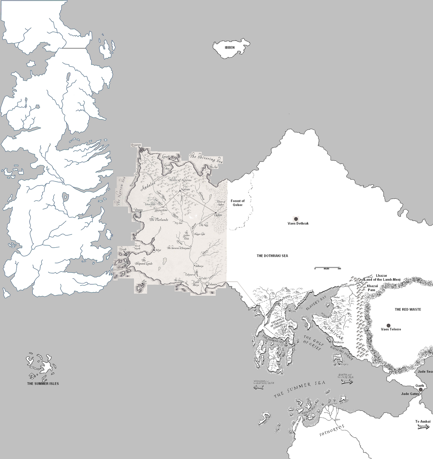 The Wertzone: Speculative World Map for A SONG OF ICE AND FIRE