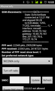 phone info, secre codes, android, ping google, dns, network modes