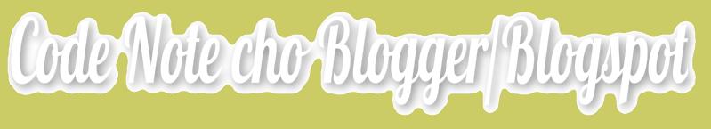 Code Info đẹp cho blogger/blogspot
