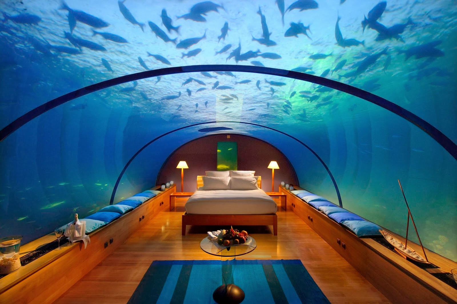 the hilton resort in maldives is one of the best honeymoon places