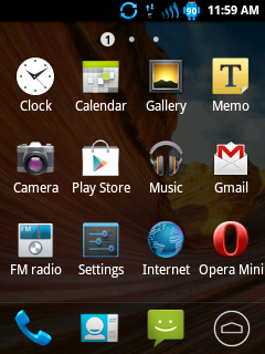 Theme for Galaxy y Stock ROM Flashable
