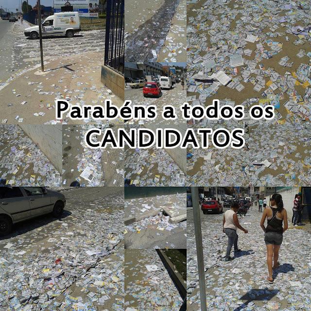 Gnvision-Parabéns a todos os candidatos - eleições 2012 - sujeira - propaganda eleitoral