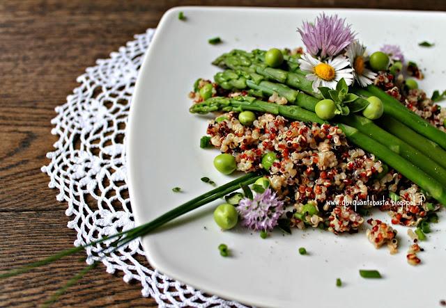 www.qb-quantobasta.blogspot.it: Insalata di quinoa con piselli, asparagi e tonno