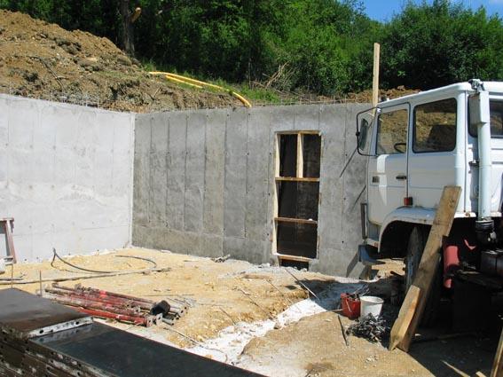 Notre maison ossature bois bioclimatique toujours du beton - Probleme maison ossature bois ...