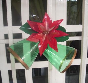 Reciplast adornos navide os elaborados con botellas pet for Adornos navidenos hechos con reciclaje