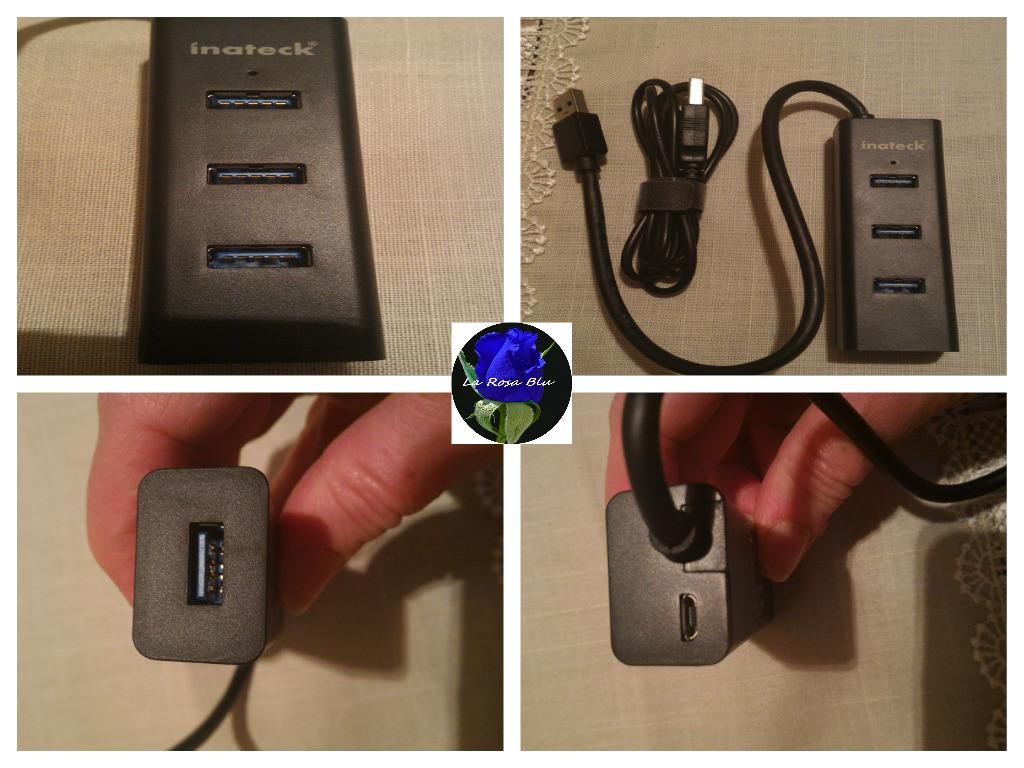 CARICATORE 4 PORTE USB 3.0 INATECK