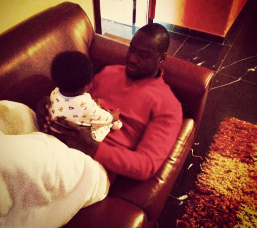 Daddy Duty Alert, Chris Attoh Shares Photo With His Son
