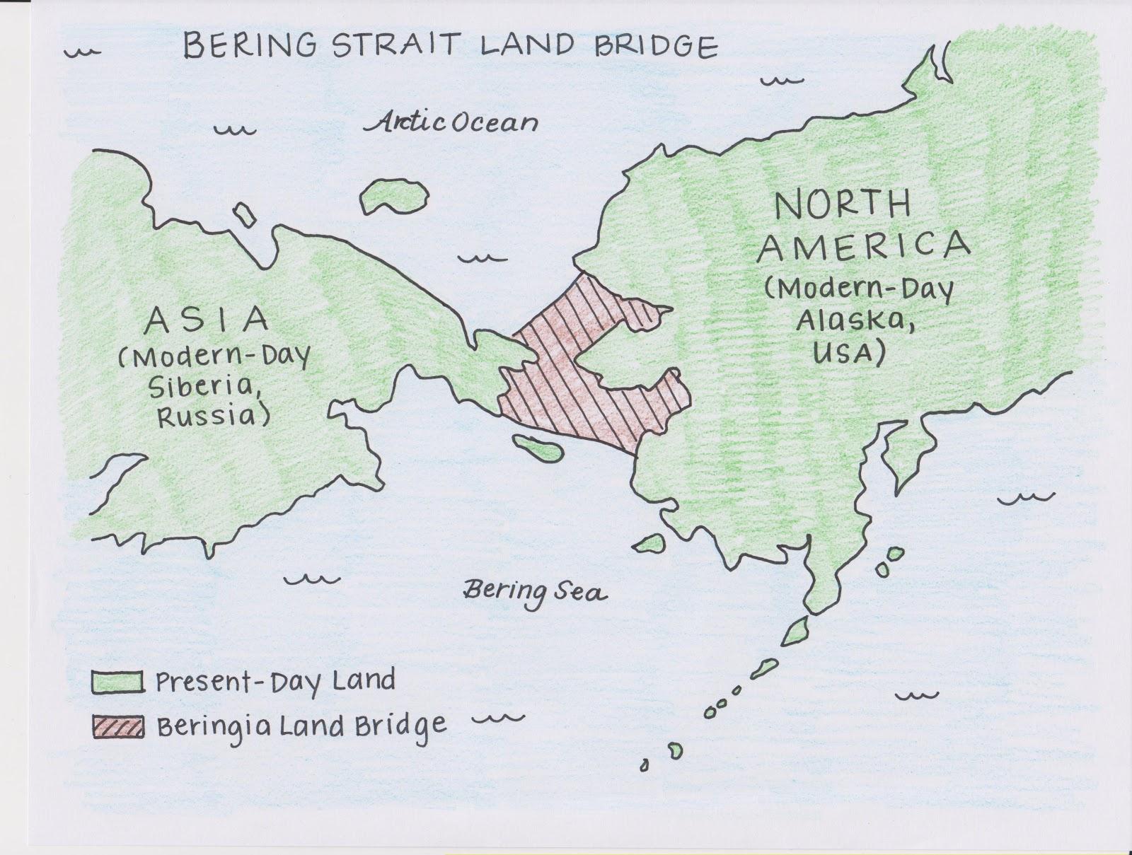 World Map Bering Strait.Spencespace Understanding The Bering Strait Land Bridge