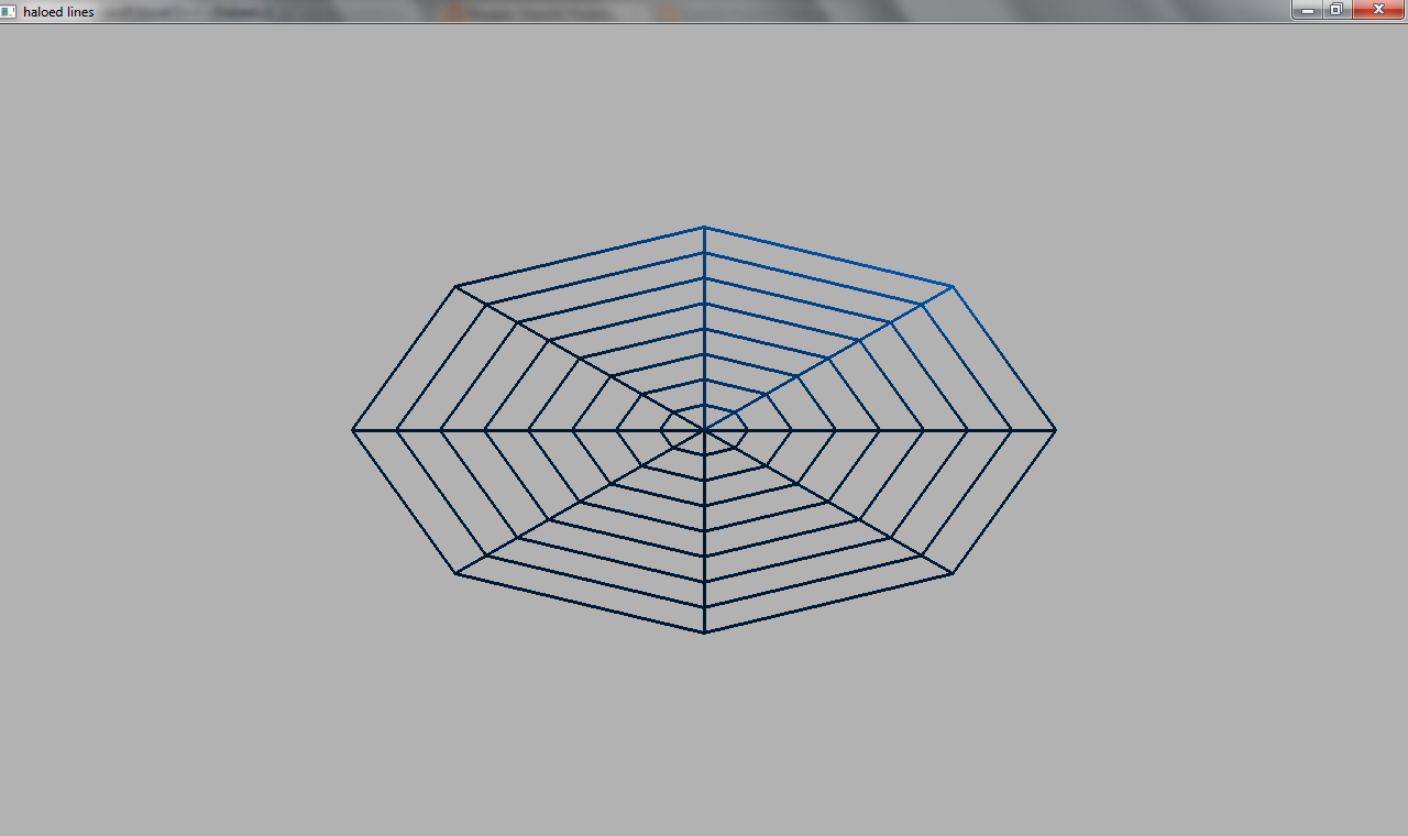 Line Drawing Algorithm In Opengl : Images for output of simple haloed lined wireframe