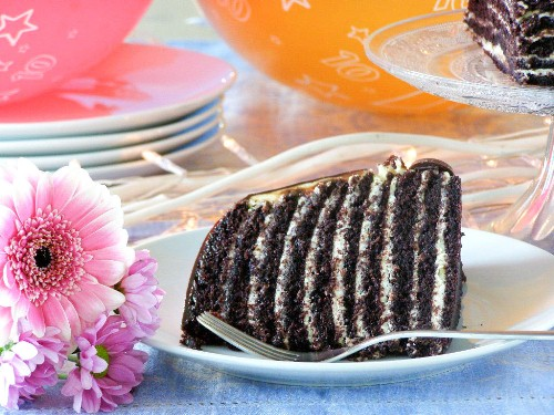 10 layer chocolate orange truffle cake