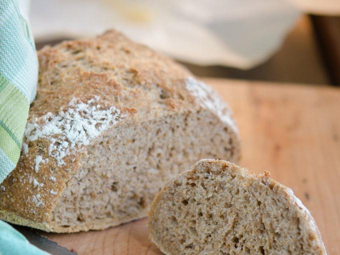 No Knead Bran Bread | Korean Recipes