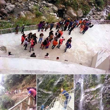 Rainbow Waterfall at Kalej Valley Rangbull