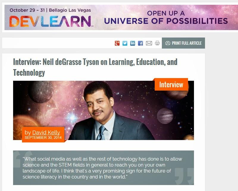 Dr. Neil deGrasse Tyson, DevLearn 2014 Opening Keynote Speaker