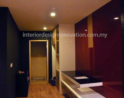 modern dry kitchen condominium furniture renovation design kuala lumpur selangor petaling jaya