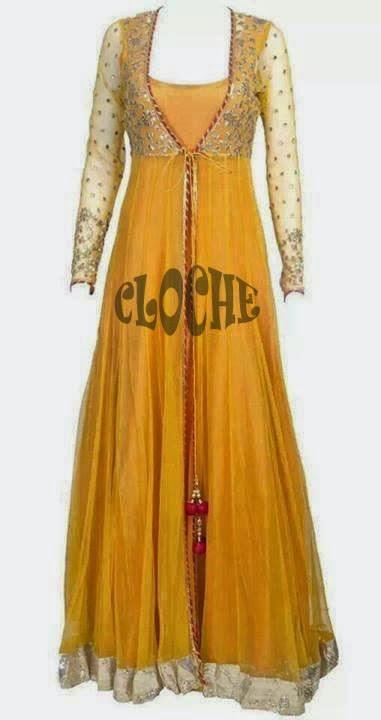 yellow net dress