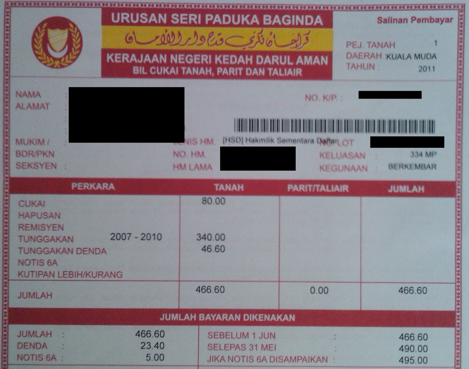 Journey To Become Financially Independent Remember To Pay Your Land Tax Cukai Tanah