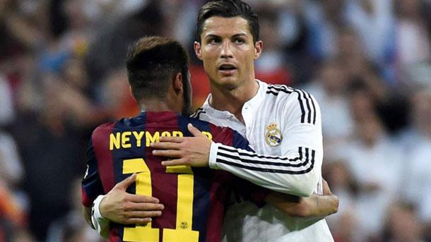 A Neymar le gustaría que Cristiano jugase en el Barça