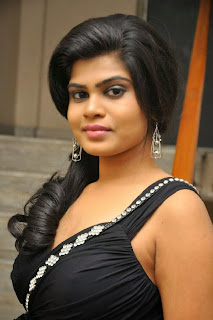Actress Alekhya Pictures in Black Dress at Anandam Malli Modalaindi Movie Audio Launch Function  0009.jpg
