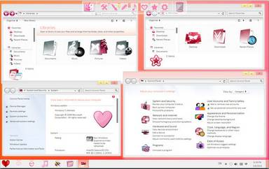 valentine skin pack for windows 7 valentine skin click image