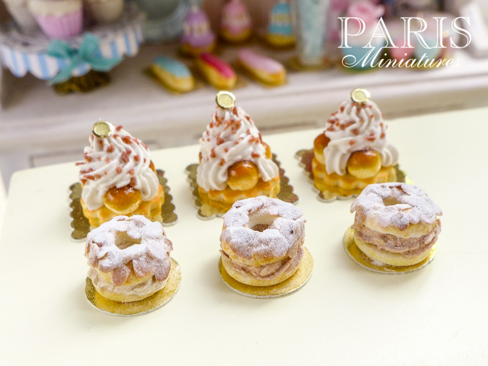 St Honoré and Paris Brest miniature pastries