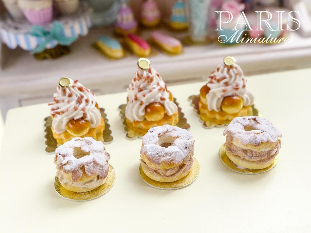 St Honoré and Paris Brest miniature pastries