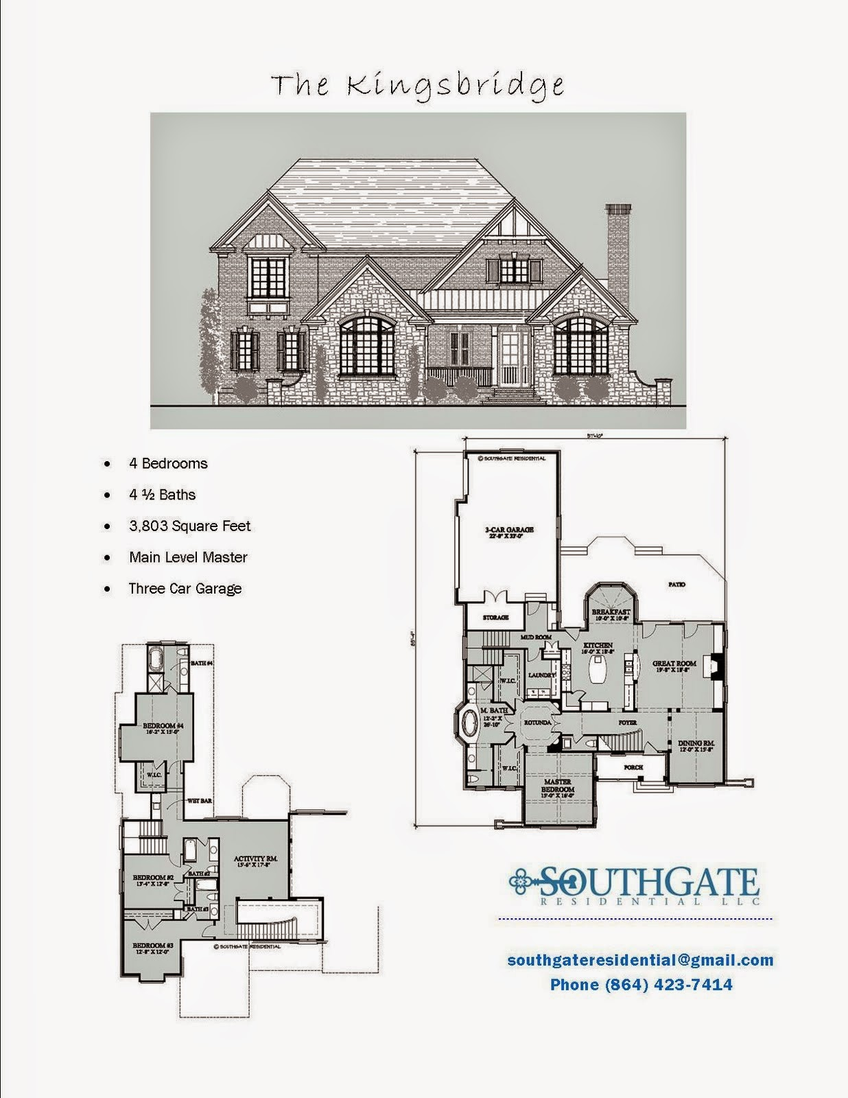 Southgate Residential Pre Designed Plan The Kingsbridge