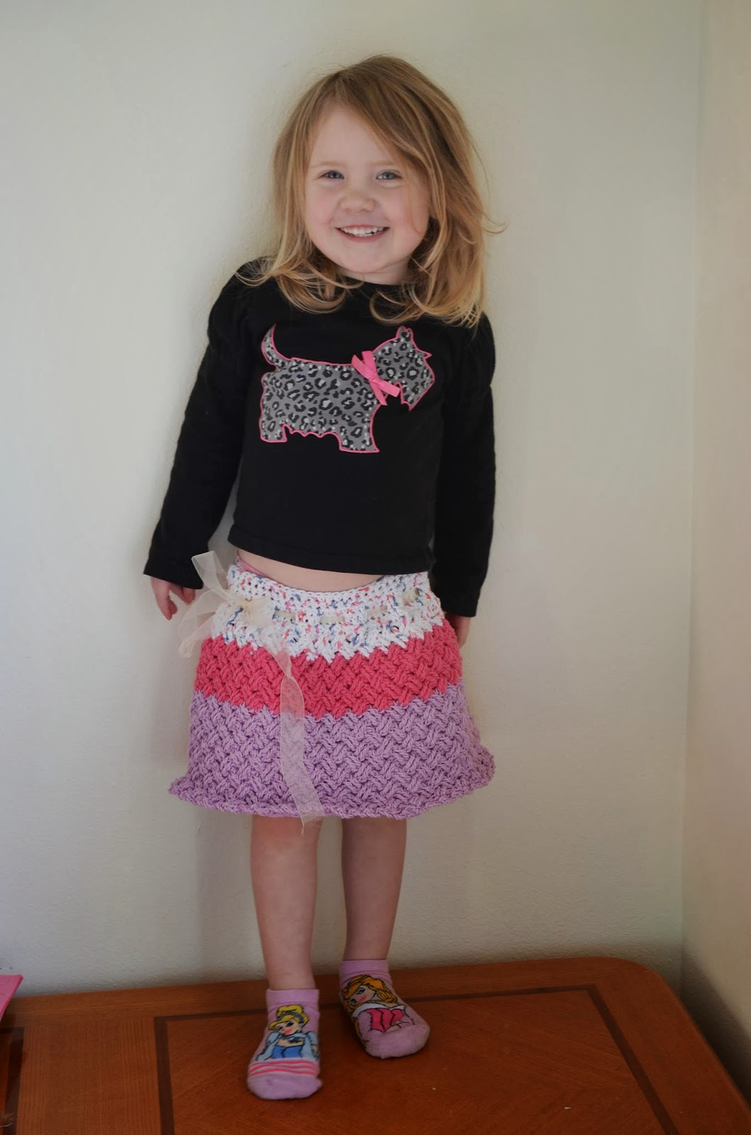 Diagonal Weave texture crochet skirt pattern