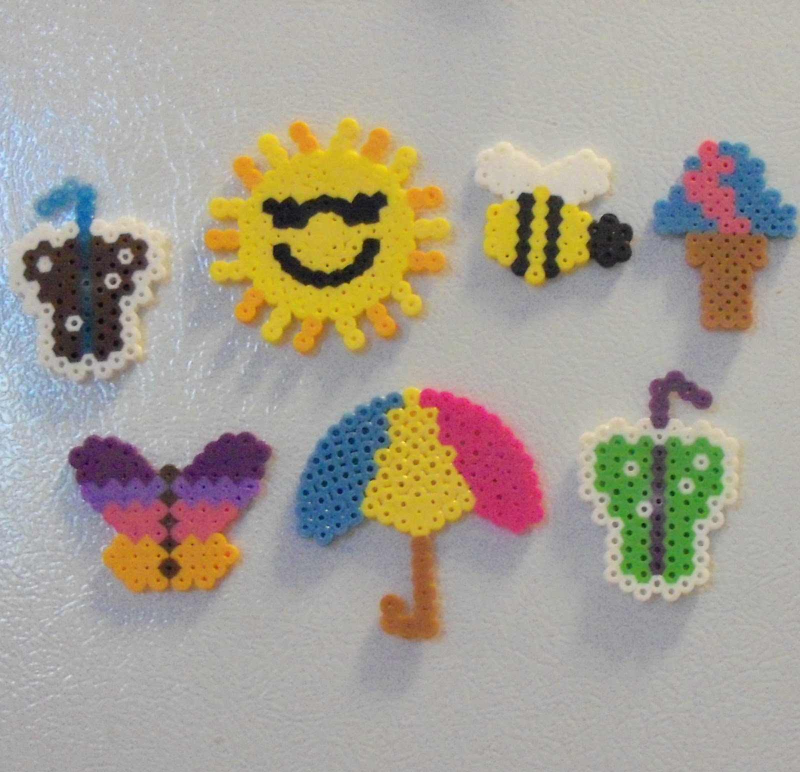 Amber\'s Craft a Week Blog: Fuse Bead Spring Magnets