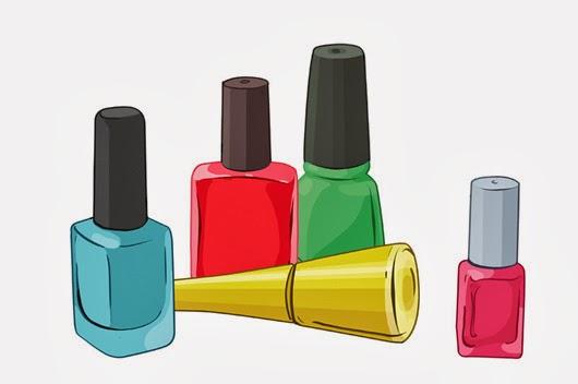 Detalle lacas de uñas