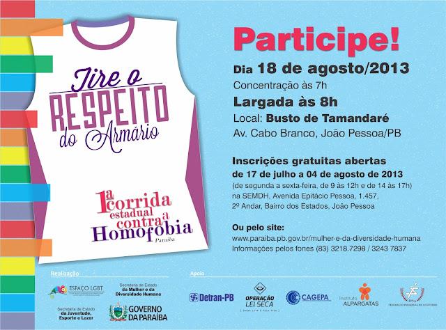 I Corrida Contra a Homofobia da Paraíba