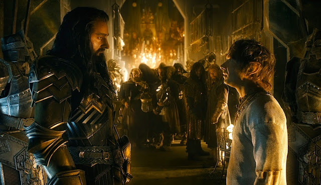 Thorin Bilbo Hobbit 3 battle of five armies movie still