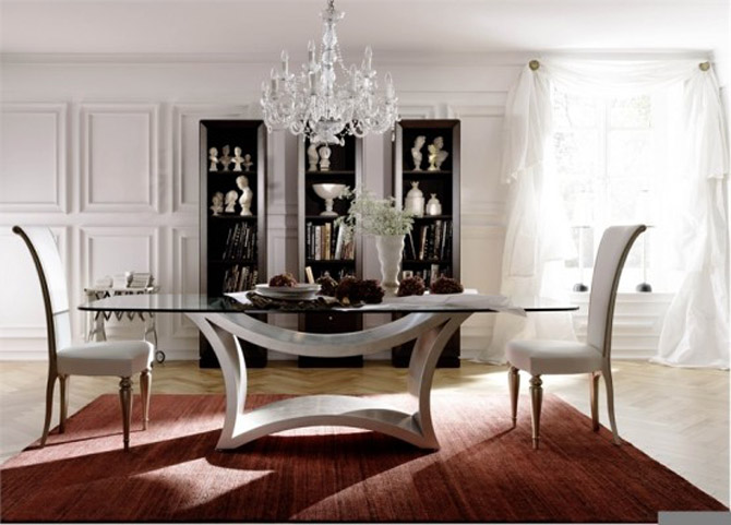minimalist table chair dining room design