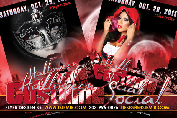 Halloween Costume Social Flyer Design