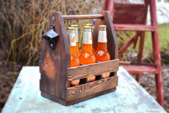 Handmade beer carrier for father's day