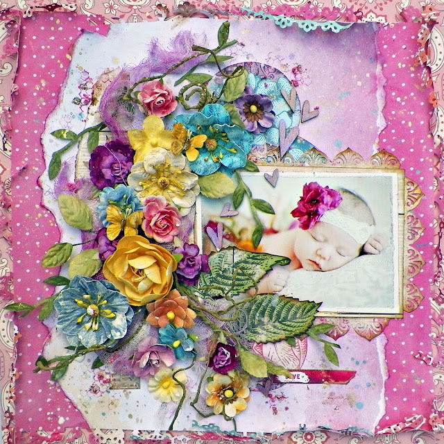 Love Layout By Lisa Novogrodski for Scraps of Darkness Using Sindi's Summer Dream Kit