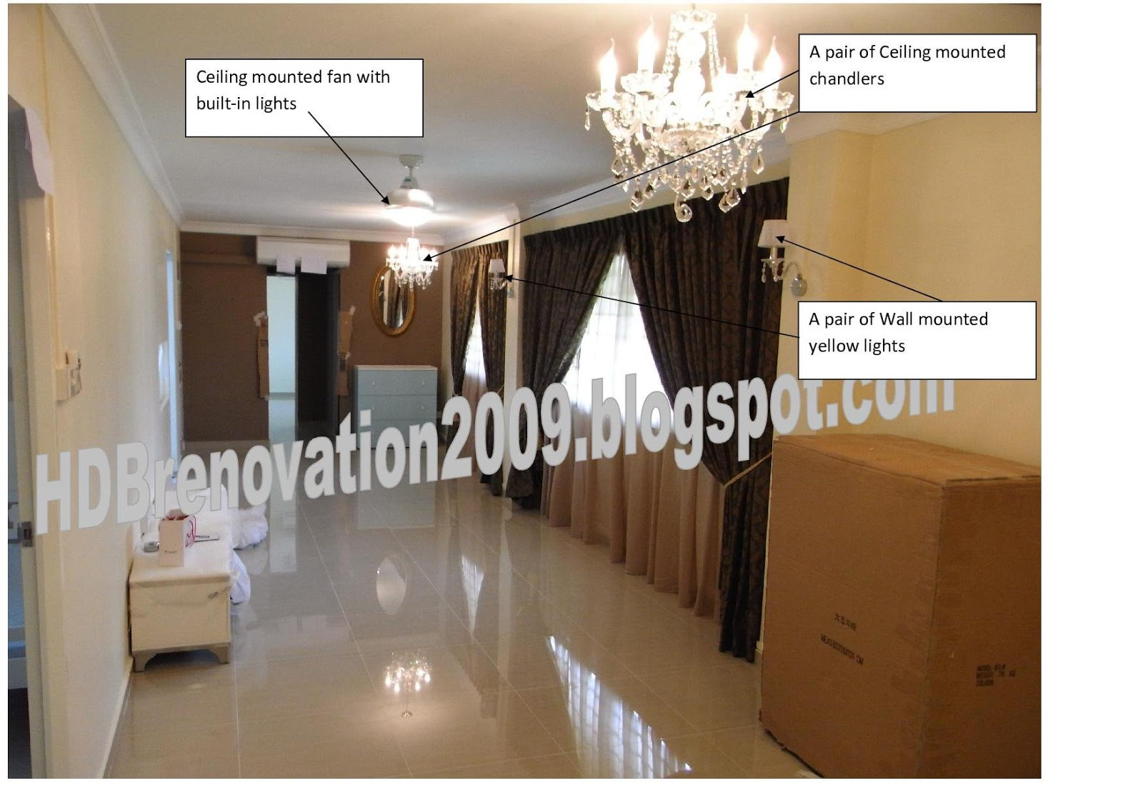 our hdb flat renovation in 2009 lighting concept cost