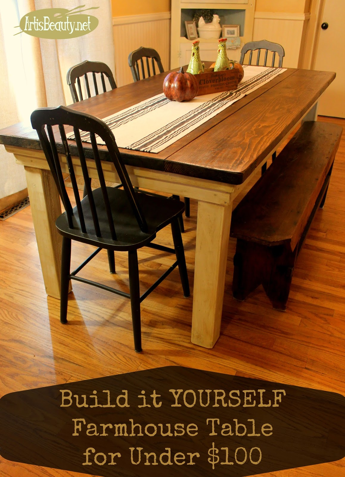 Beautiful ART IS BEAUTY DIY build it yourself Vintage Farmhouse Style Coffee Table from Rescued Lumber
